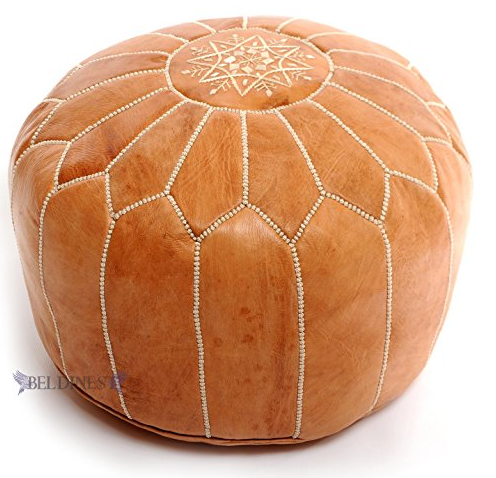 Poofs To Sit On - 7 Best Moroccan Leather Pouffe - Sevenhints