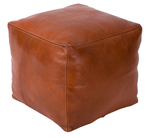 poofs to sit on Moroccan leather pouffe Casablanca