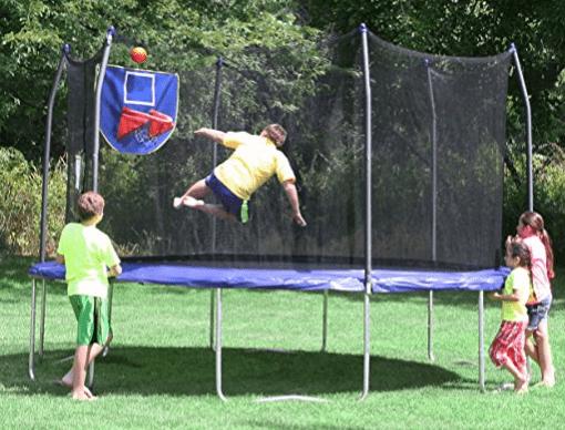 trampolines with enclosures skywalker trampoline with basketball hoop