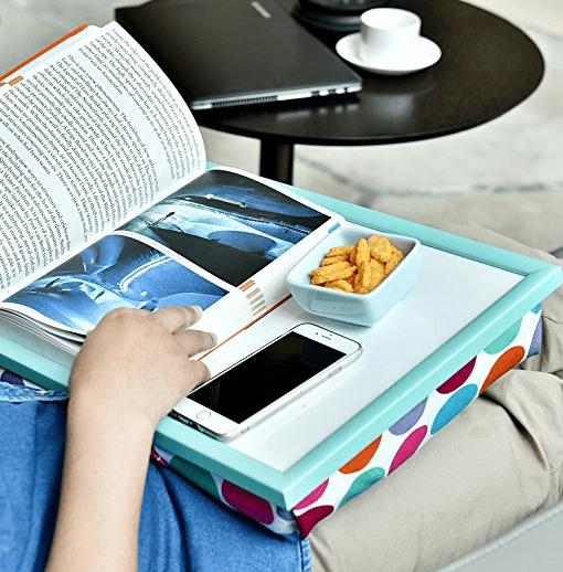 lap desk with bean bag bottom