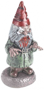 inappropriate garden gnomes that is a zombie