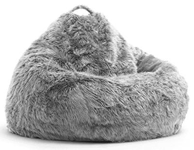 furry bean bag chairs Teardrop Fur Bean Bag