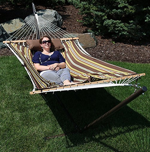 hammock and stand sets Cotton Rope Hammock with Stand