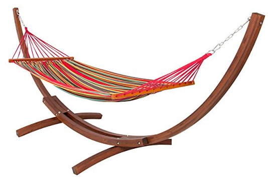 hammock and stand sets Wooden Curved Arc Hammock Stand