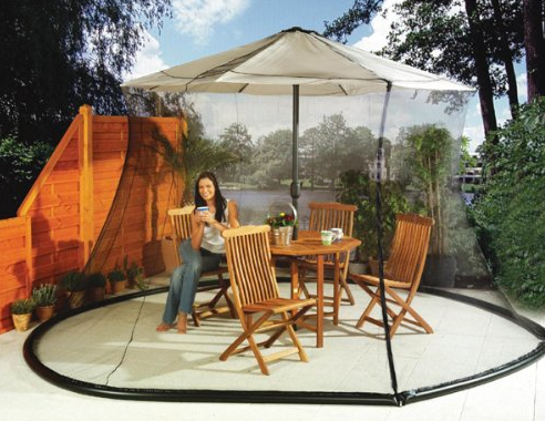 mosquito netting for patio umbrella Mosquito Net Canopy Patio Set Screen