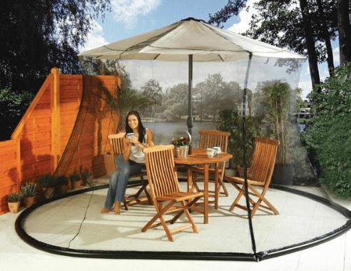mosquito netting for patio umbrella Mosquito Net Canopy Patio Set Screen