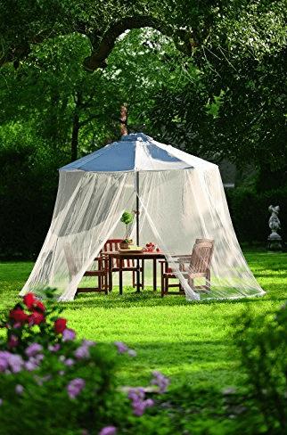 mosquito netting for patio umbrella Outdoor Umbrella Canopy Mosquito and Insect Net & Mosquito Netting for Patio Umbrella u2013 No More Pesky Flying Insects ...