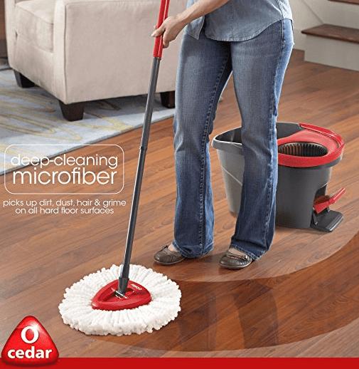 o cedar microfiber cloth mop O Cedar easy wring spin mop & bucket system