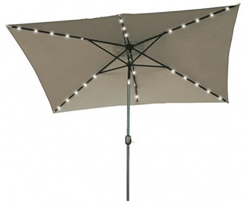 rectangular patio umbrella with solar lights Rectangular Outdoor Umbrella