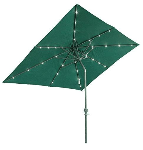 rectangular patio umbrella with solar lights Solar Powered Patio Umbrella Lights LED