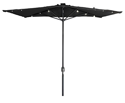 rectangular patio umbrella with solar lights Solar Powered Rectangular Umbrella Lights