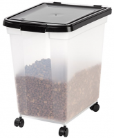 50 lb dog food storage containers IRIS pet food storage bin on wheels