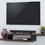 Floating shelves for TV equipment