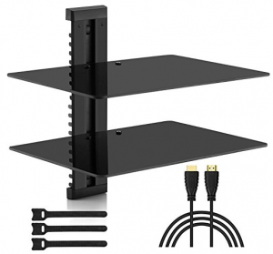 Double Floating Shelves for TV Accessories