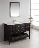 bathroom vanity with shelf on bottom