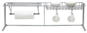 over the sink shelf with paper towel holder