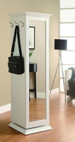 rotating shelf unit with mirror Full Length Mirror Cabinet Storage