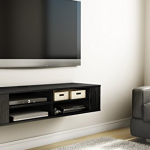 shelf for under mounted TV