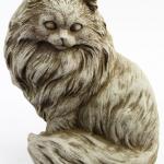 concrete cat statue