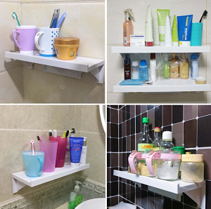 wall shelves without nails or screws for the bathroom